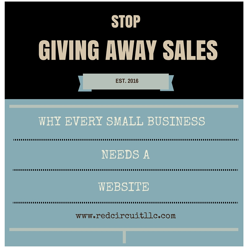 Stop Giving Away Sales: Why Every Small Business Needs a Website